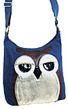 Owl Shoulder/Cross Body Bag in Blue
