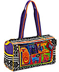 Dog Tails Patchwork Medium Satchel Bag