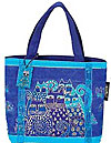 Indigo Cat Small Tote Bag
