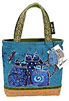 Indigo Cats Denim Small Tote Bag