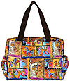 Horse Collage Quilted Medium Bag