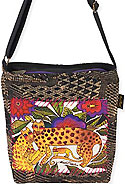 Leopards of Shambala Crossbody Bag