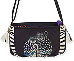 Polka Dot Cats Crossbody Bag
