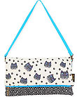 Polka Dot Gatos Flap Clutch