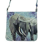 Crossbody Bag with Elephants