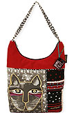 Whiskered Cat Medium Scoop Tote