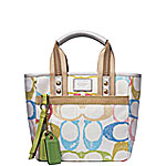 Coach Handbag in 'scribble' pattern