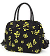 Quilted Fleur De Lis Laptop Shoulder Bag