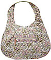 Paisley Quilted Pink and Beige Hobo Bag