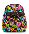 Quilted Backpack in Paisley with PolkaDot Ribbon