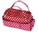 Purse Organizer in Fuchsia and White Polkadots