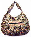 Paisley Quilted Black and Gold Hobo Bag