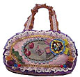 Victorian Satchel Style Purple Lace Purse