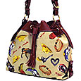 Drawstring Handbag with Horses