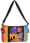 Fantastic Feline Totem Medium Crossbody Bag by Laurel Burch