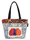 Feline Friends Jacquard Medium Square Tote Bag
