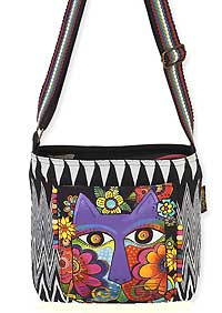 Blossoming Feline Crossbody Bag