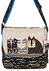 Wild Cats Flap Over Crossbody Bag
