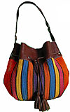 Handwoven Handbag with Drawstring Top