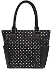 Perforated Fashion Black Tote Bag