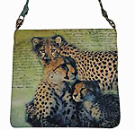 Crossbody Bag with Cheetahs