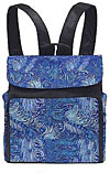 Quilted Diaper Bag/Backpack in Blue