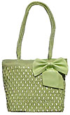 Crochet and Ribbon Handbag with Bow