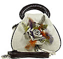 Feather and Flower Handbag in Natural Color