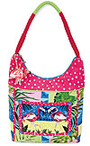 Flamingo Cove Scoop Top Tote Bag