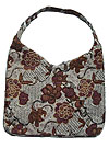 Hobo Bag with Flowers with Decorative Beading