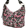 Pink Paisley Hobo Bag