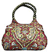 Bohemian Hobo Bag in Red
