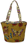 Garden Patchwork Medium Bucket Style Tote
