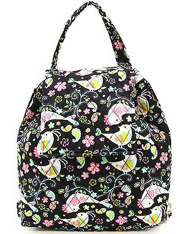 Quilted Bird Backpack - Click Image to Close