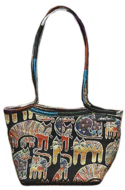 Cat Scoop Top Tapestry Handbag - Click Image to Close