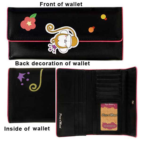 Trifold Wallet with Monkey - Click Image to Close