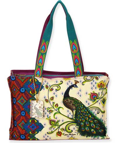 Feathered Splendor Medium Tote - Click Image to Close