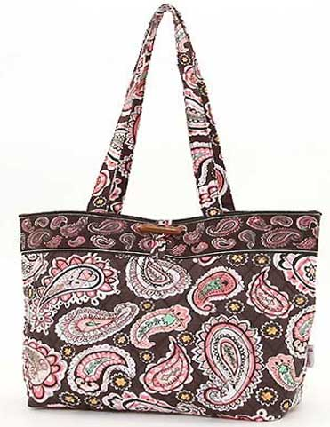 Quilted Paisley Medium Tote Bag - Click Image to Close