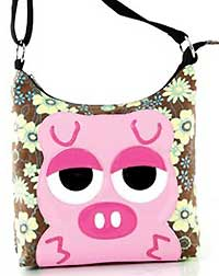 Sleepyville Critters Shoulder Bag with Pig