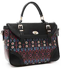 Fashion Aztec Pattern Twist Lock Messenger Bag