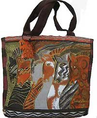 Moroccan Mares Mini Tote Bag