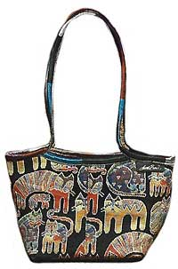 Cat Scoop Top Tapestry Handbag
