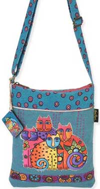Feline Clan Long Satchel Bag