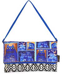 Indigo Cats Flap Clutch