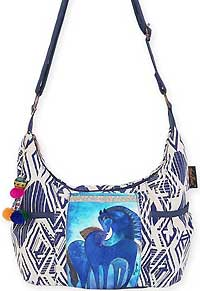 Indigo Mares Medium Scoop Crossbody Bag