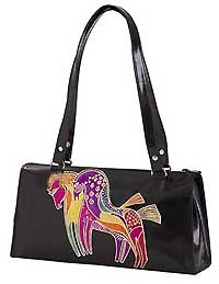 Mythical Horses Leather Satchel Bag