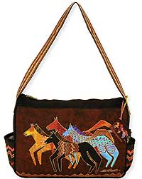 Native Horses Medium Tote Bag