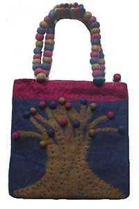 Felted Purse With Tree of Life