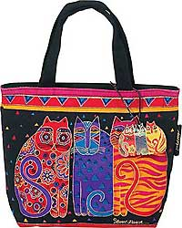 Feline Friends Mini Square Tote Bag