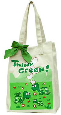 Canvas Market Bag with Turtles